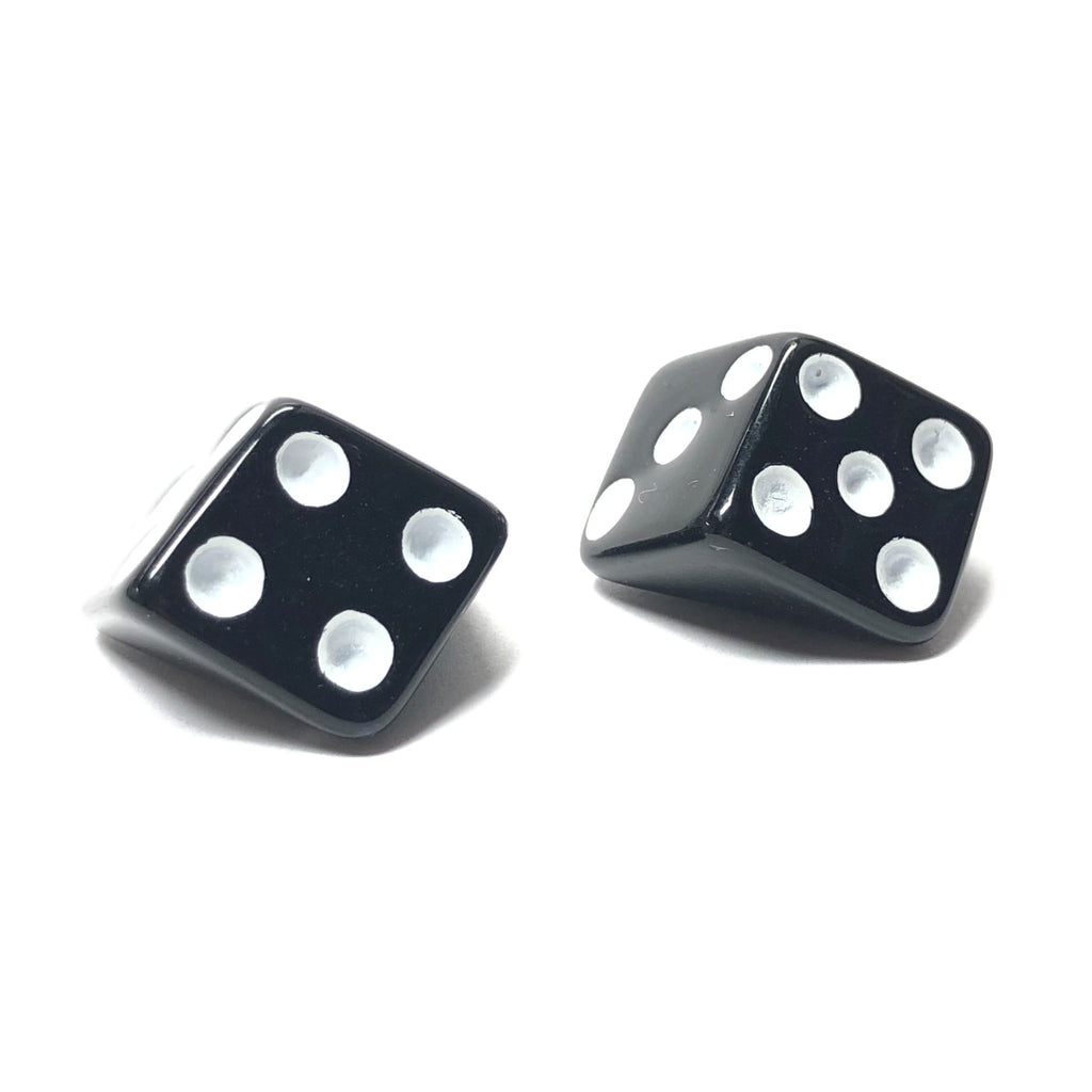 20MM Black With White Dots Dice Acrylic Cab (36 pieces)