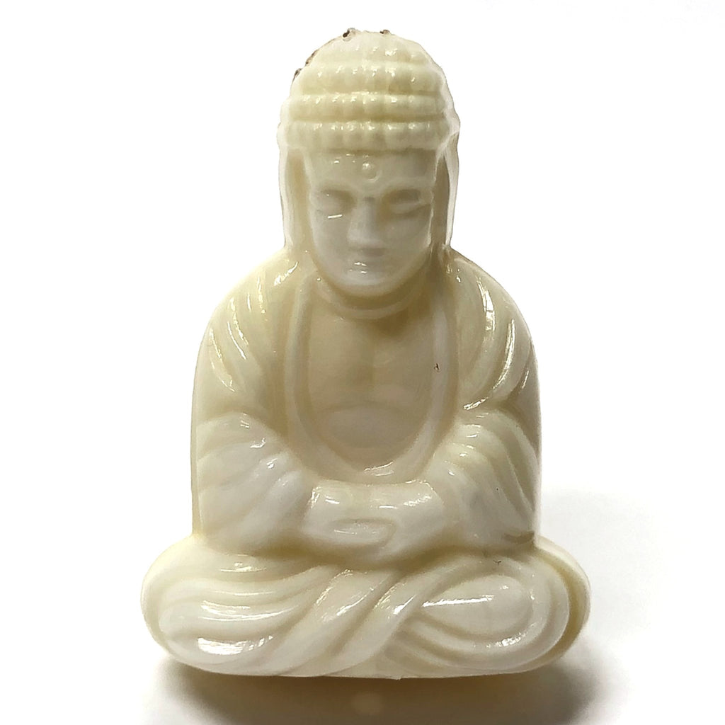 "25X18MM ""Ivorine"" Seated Buddha Acrylic Bead (36 pieces)"