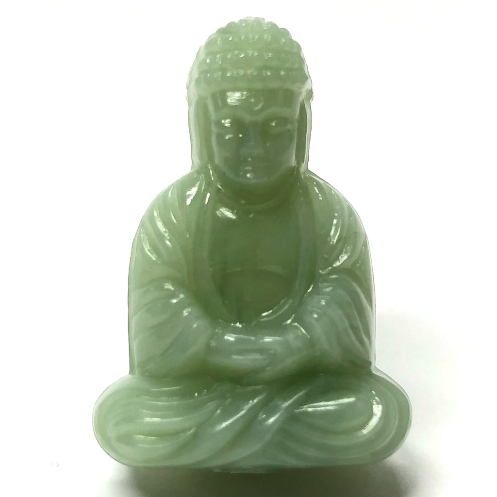 "25X18MM Light Jade Green ""Agate"" Buddha Acrylic Bead (36 pieces)"