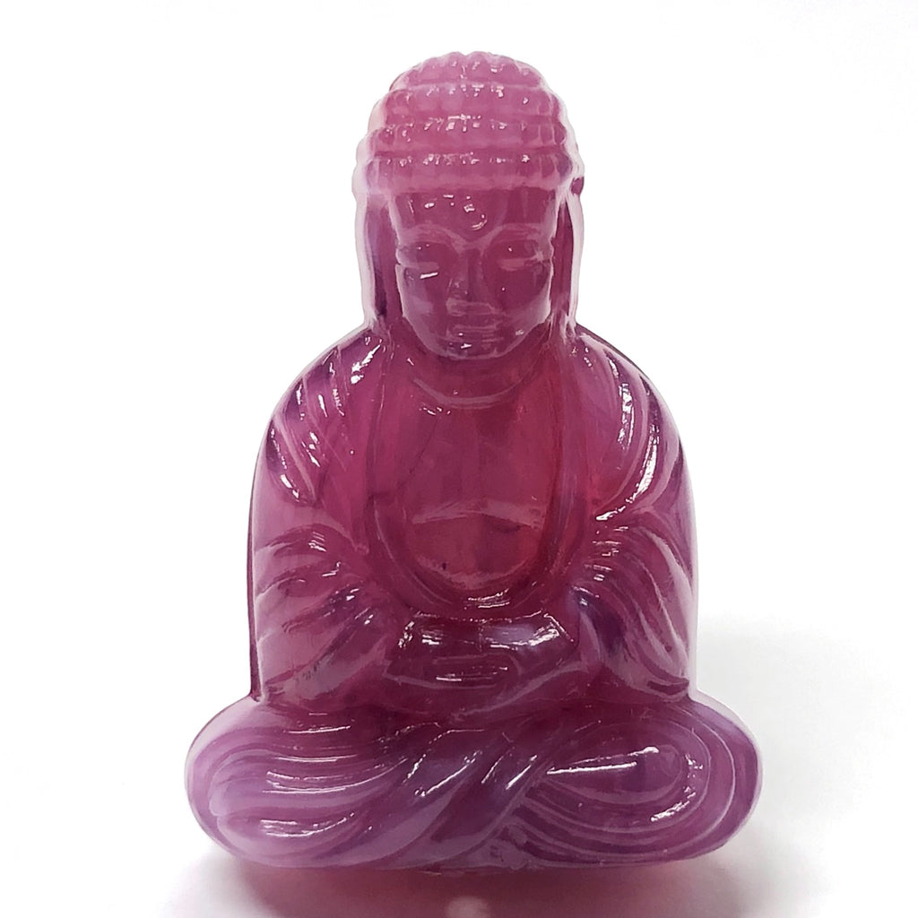 "25X18MM Lilac ""Stone"" Buddha Acrylic Bead (36 pieces)"