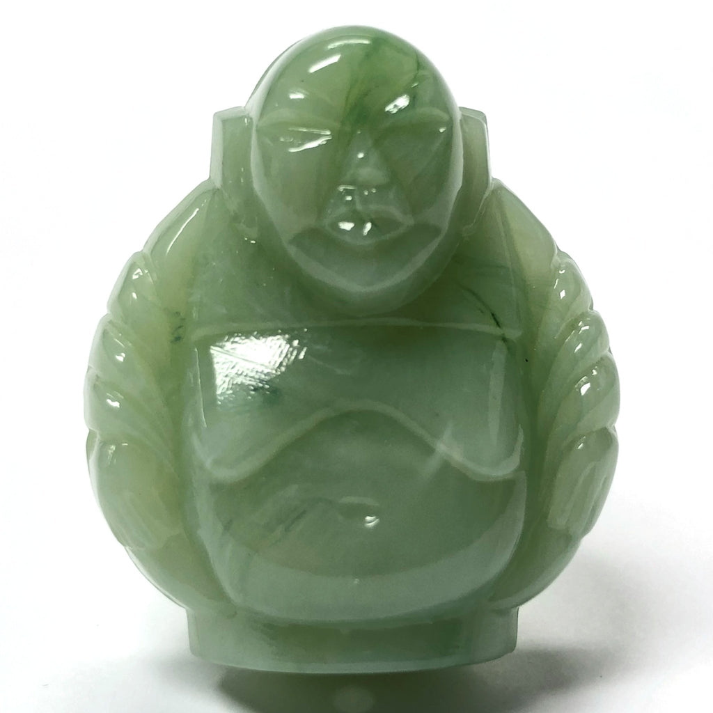 "29MM Light Jade Green ""Agate"" Buddha Acrylic Bead (12 pieces)"