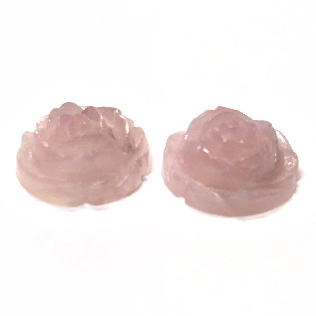 "12MM Pink ""Agate"" Rosebud Acrylic Cab (72 pieces)"