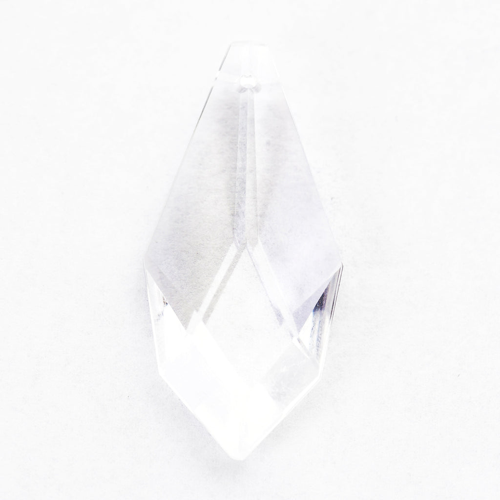 38X22MM Crystal Glass Faceted Drop (4 pieces)