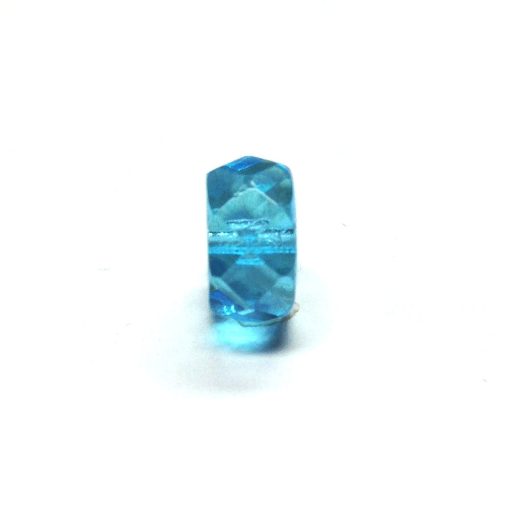 10MM Aqua Glass Faceted Rondel Bead (72 pieces)