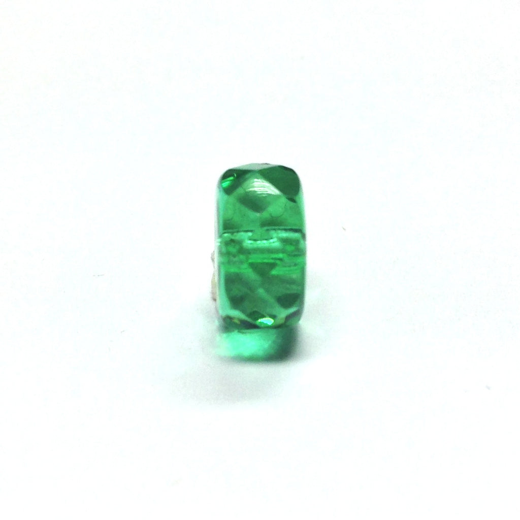 10MM Emerald Green Glass Rondel Bead (72 pieces)