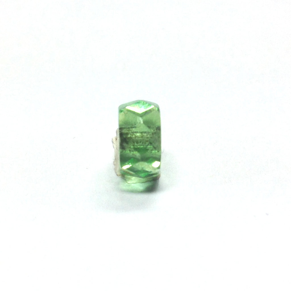 8MM Peridot Green Glass Faceted Rondel Bead (144 pieces)
