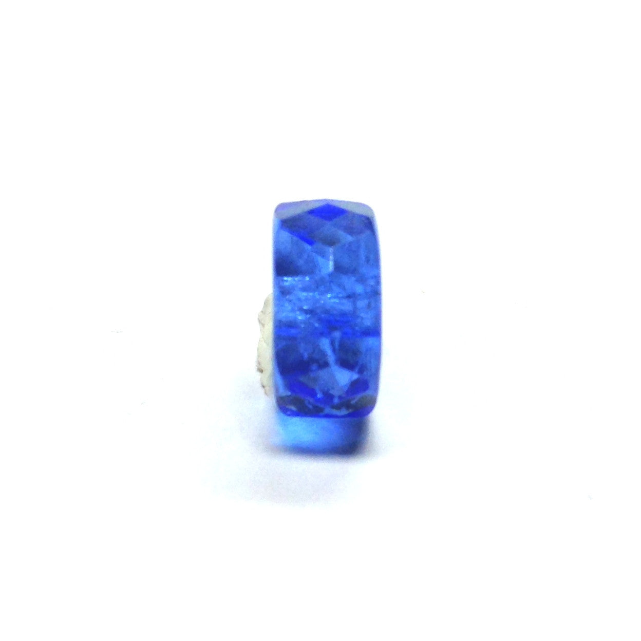10MM Sapphire Blue Glass Rondel Bead (72 pieces)