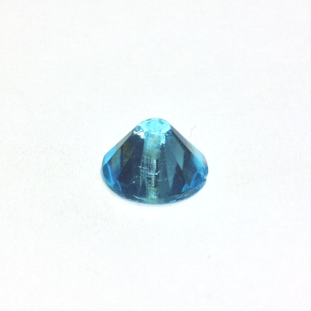 6MM Aqua Faceted Glass Pyramid Bead (144 pieces)