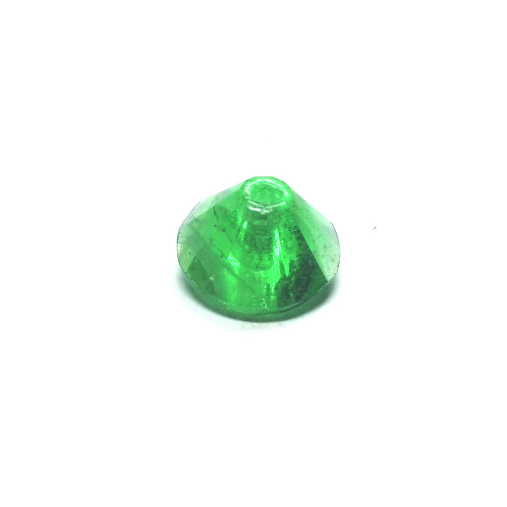 10MM Emerald Green Faceted Pyramid Bead (72 pieces)