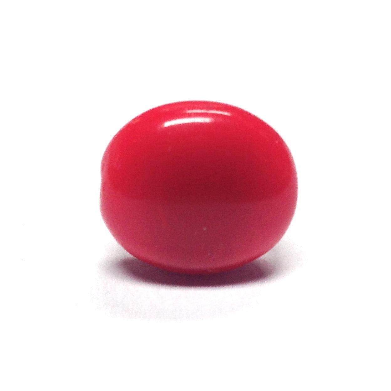 14MM Red Glass Disc Bead (72 pieces)