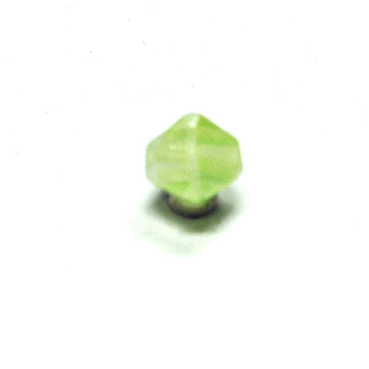 8MM Green Glass Pyramid Bead (72 pieces)