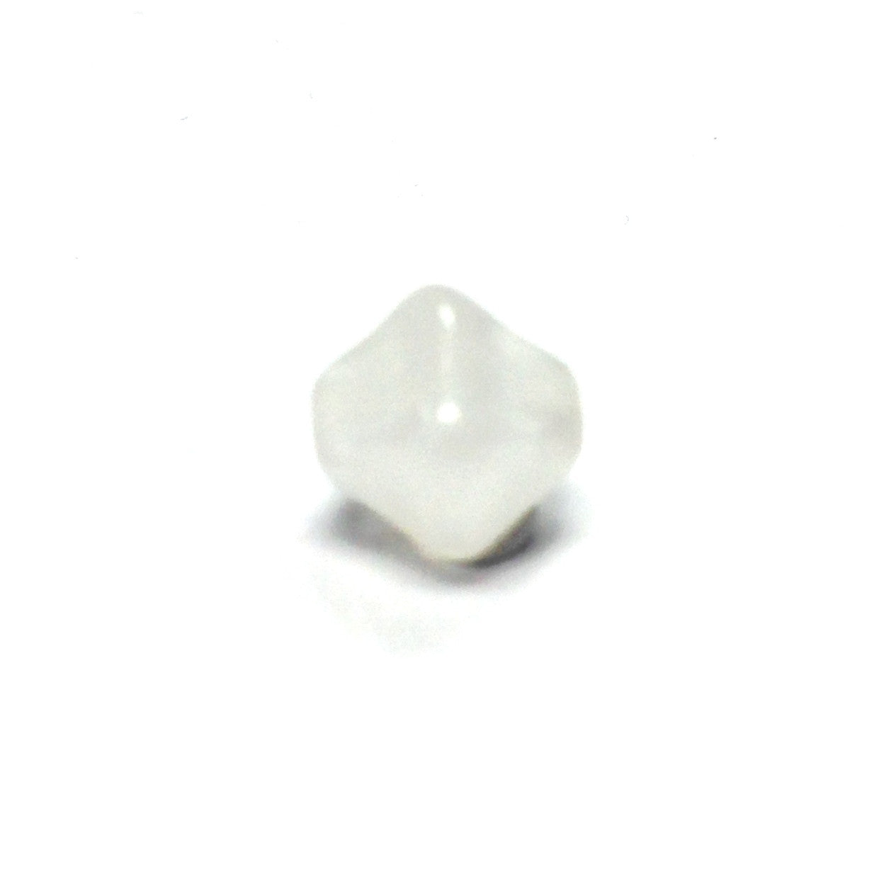 8MM White Glass Pyramid Bead (72 pieces)