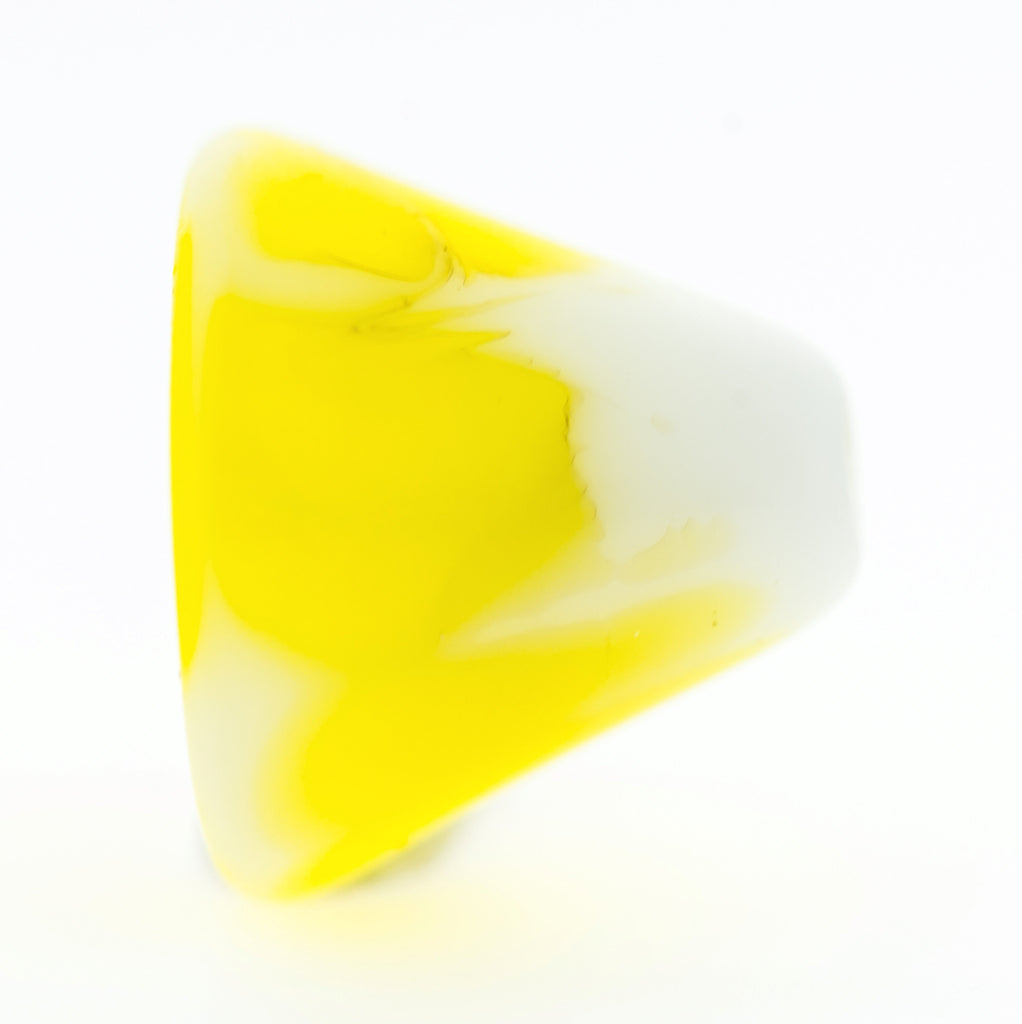 11MM Yellow Glass Cap (36 pieces)