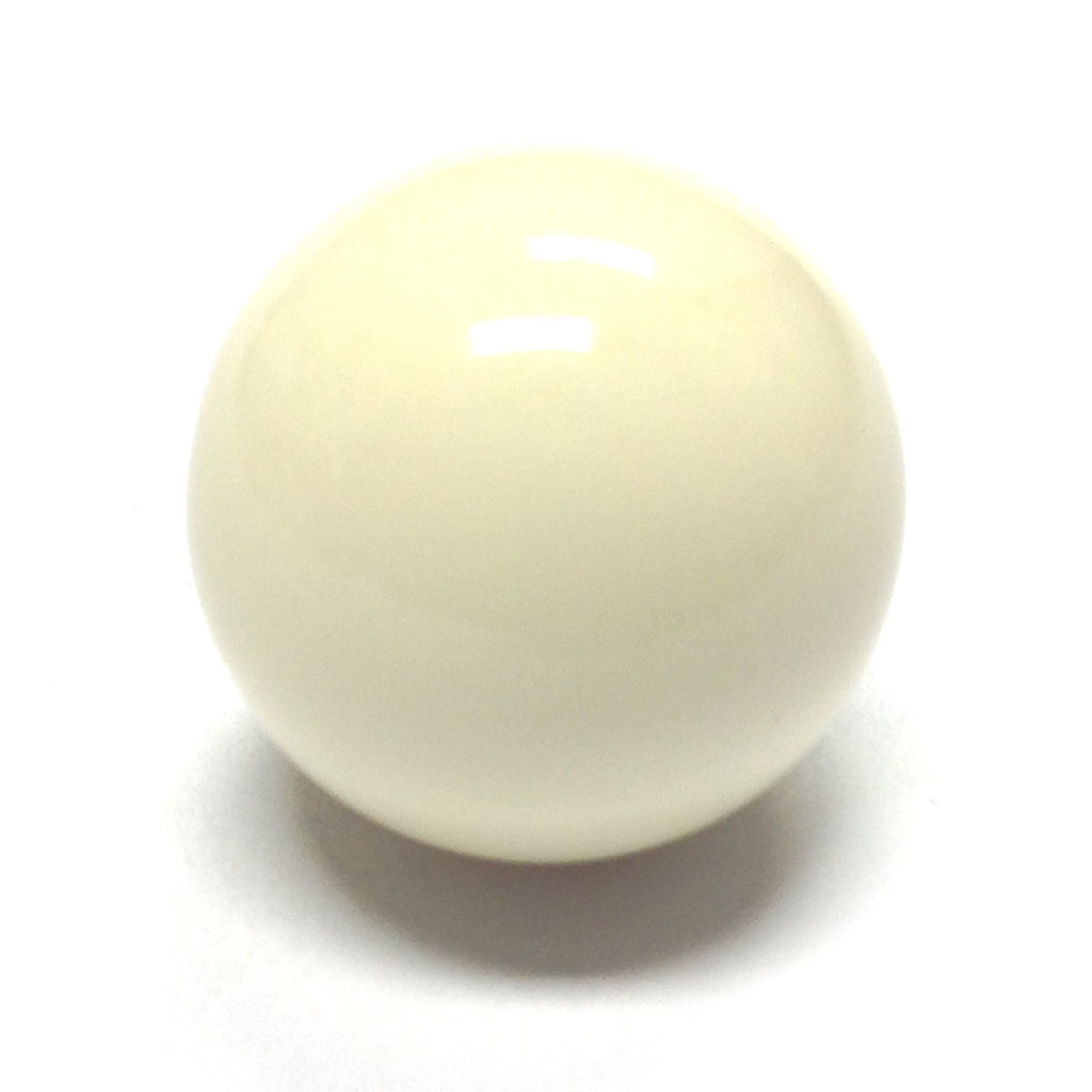 18MM Ivory Acrylic Round Bead (36 pieces)