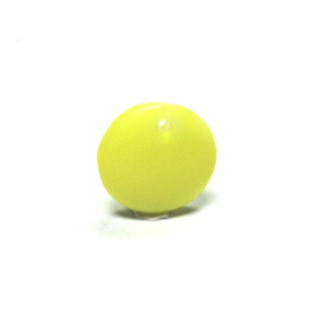 10MM Yellow Glass Disc Drop (72 pieces)