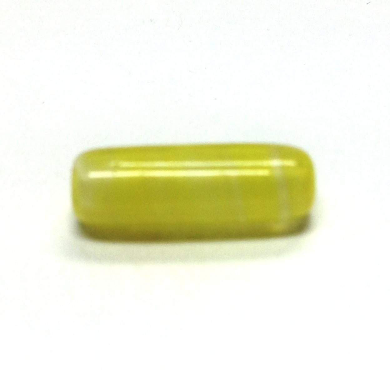14X5MM Yellow Glass Tube Bead (36 pieces)