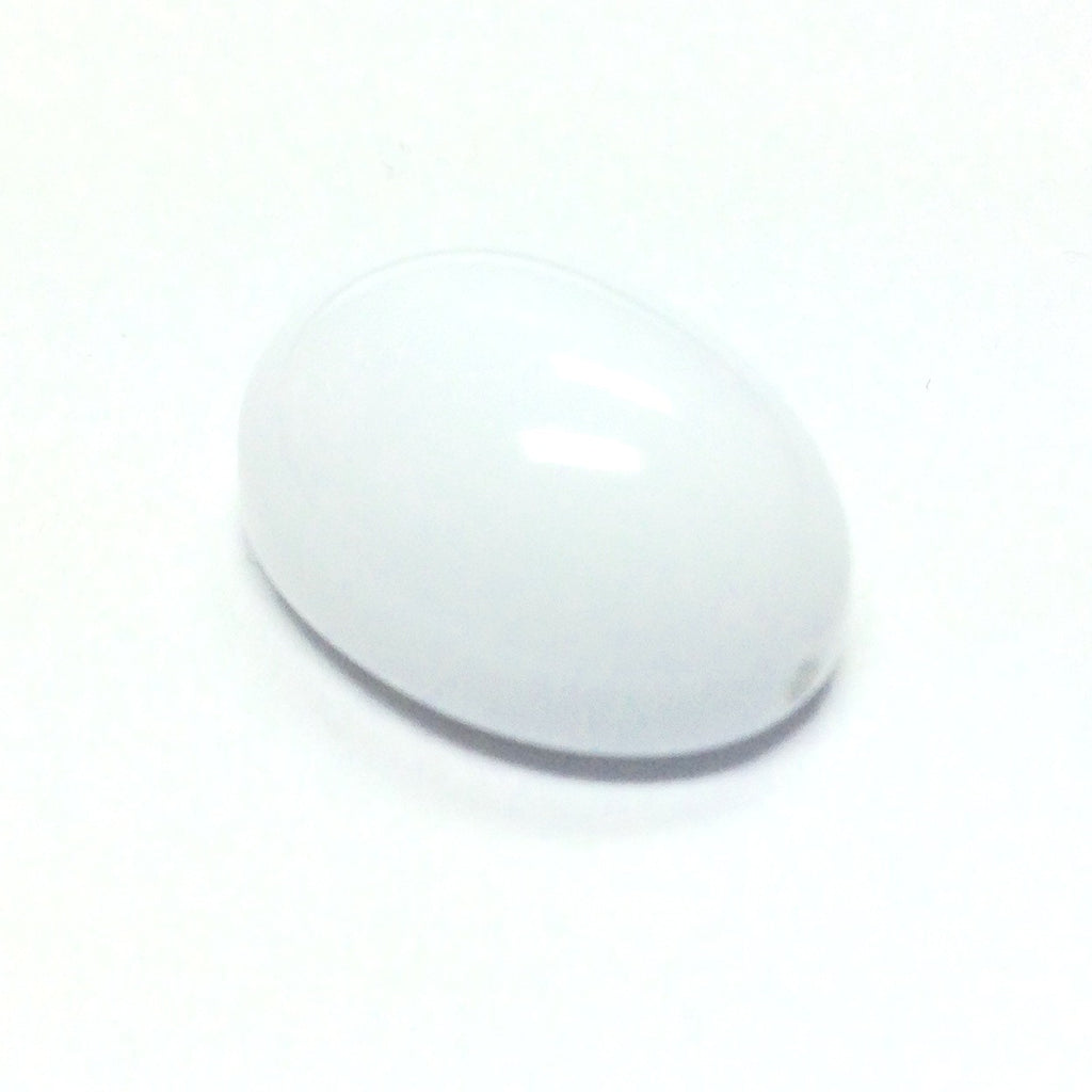 18X13MM White Oval Flatback Bead (36 pieces)