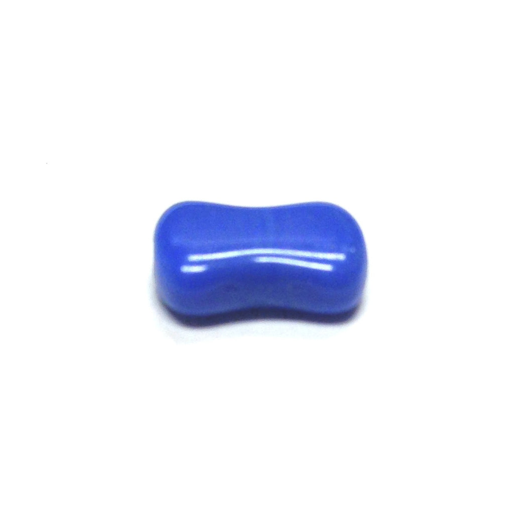 "Blue Glass ""Dogbone"" Bead (100 pieces)"