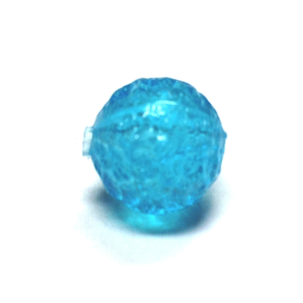 12MM Aqua Baroque Bead (72 pieces)