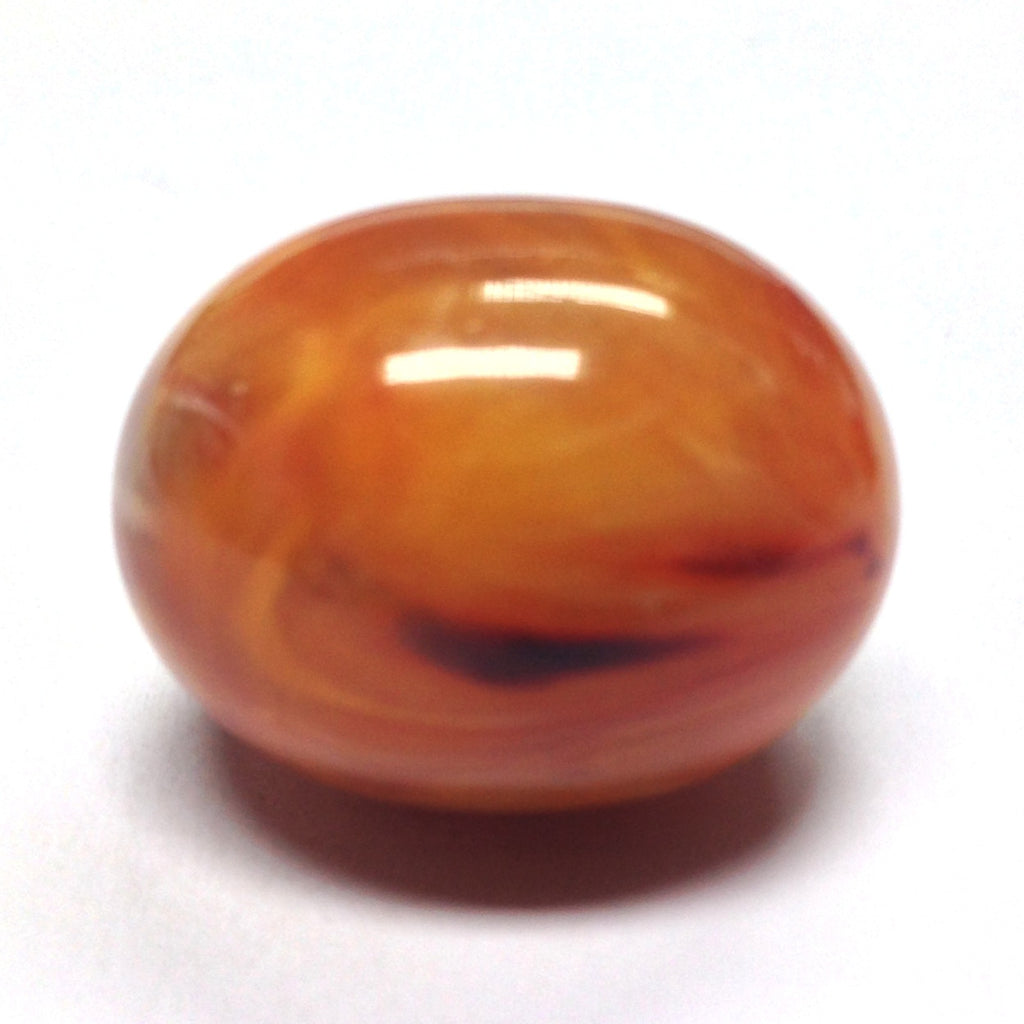 32X25MM Amber Oval Bead (12 pieces)