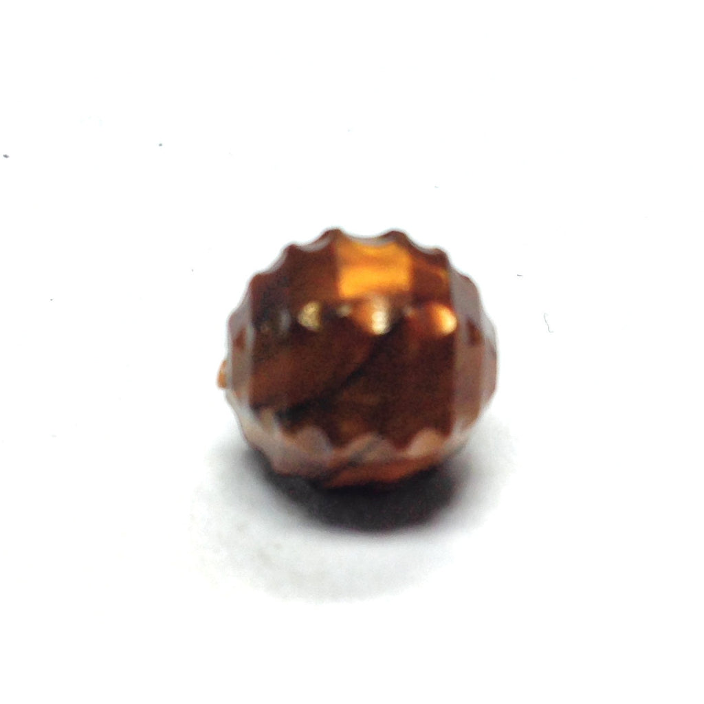 10MM Brown Fancy Faceted Bead (200 pieces)