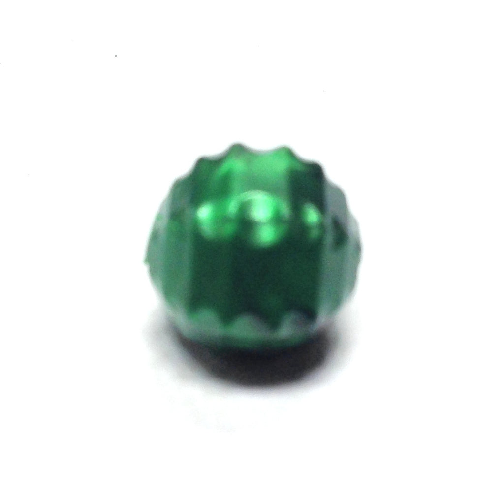 10MM Green Fancy Faceted Bead (200 pieces)