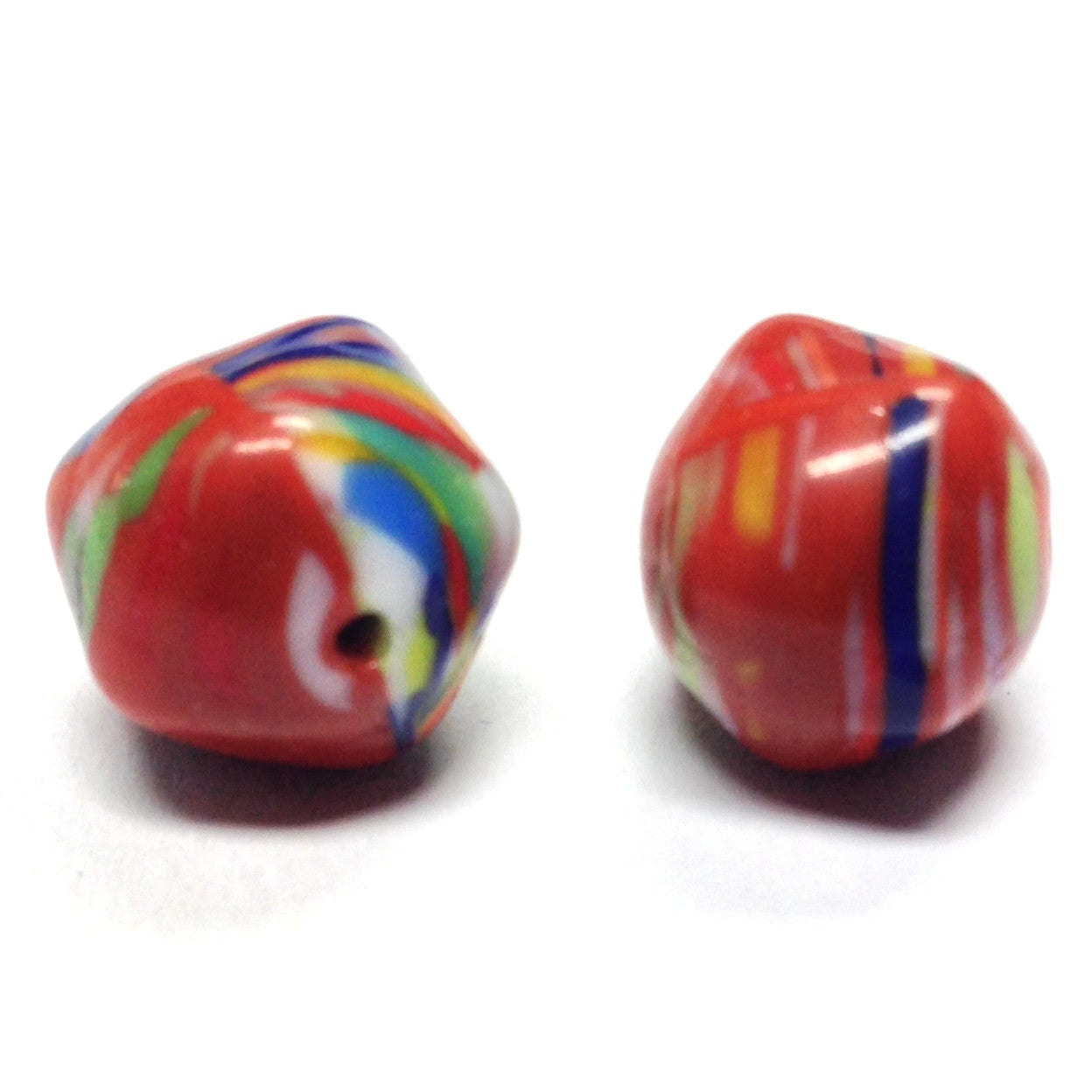 12MM Rust/Multicolor Glass Nugget Bead (24 pieces)