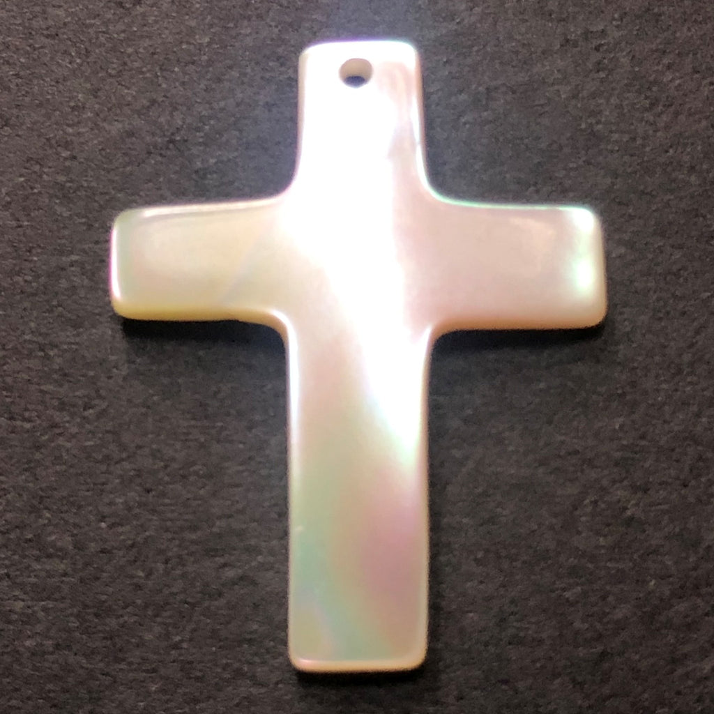 30X22MM Mother Of Pearl Cross Drop (6 pieces)