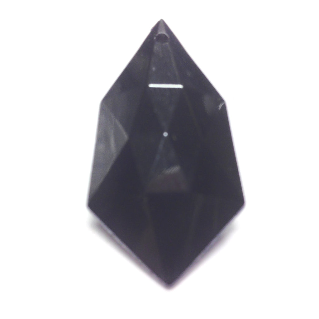 38X20MM Black Faceted Drop (24 pieces)