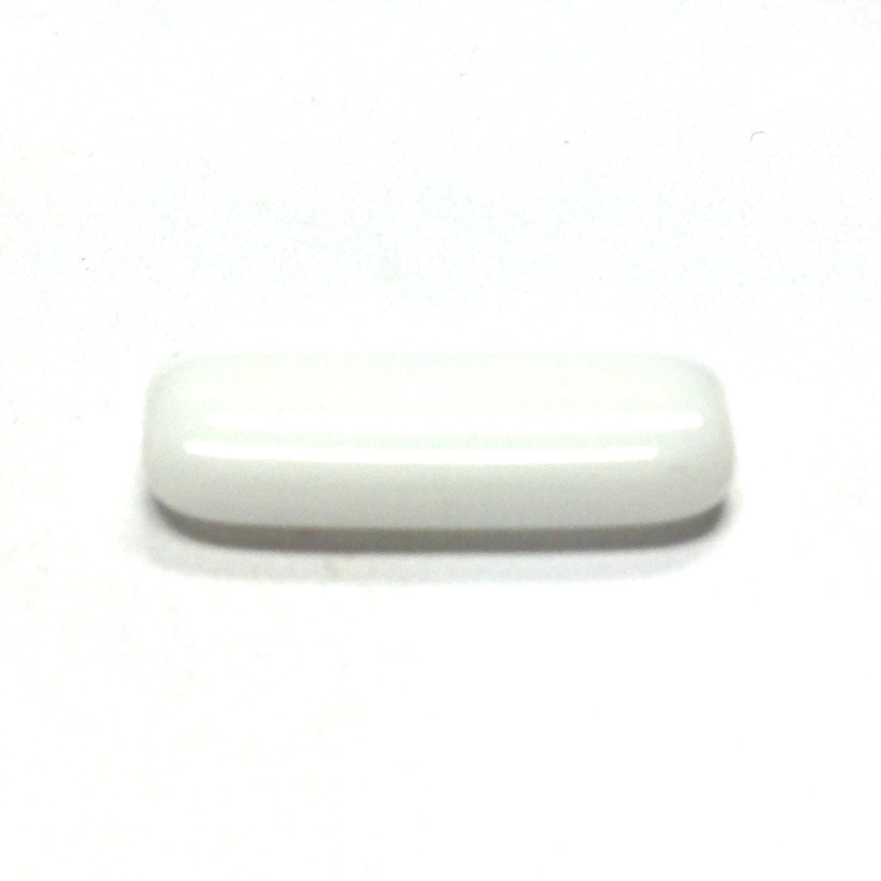 18X7MM White Glass Rectangle Bead (72 pieces)