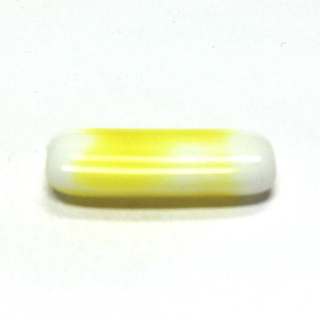 18X7MM Yellow Glass Rectangle Bead (72 pieces)