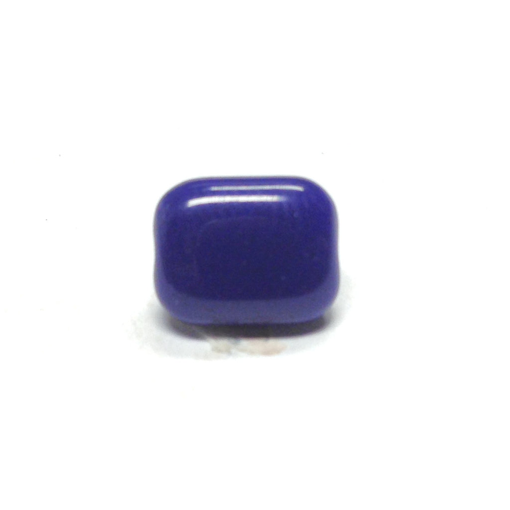 10X8MM Navy Glass Rectangle Bead (72 pieces)
