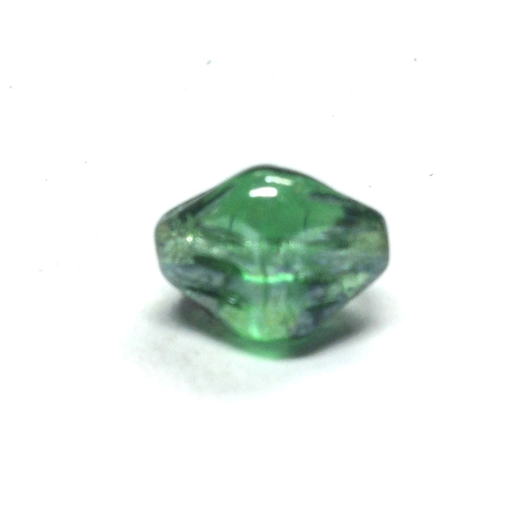 17MM Emerald Green Lustered Glass Nugget Bead (24 pieces)