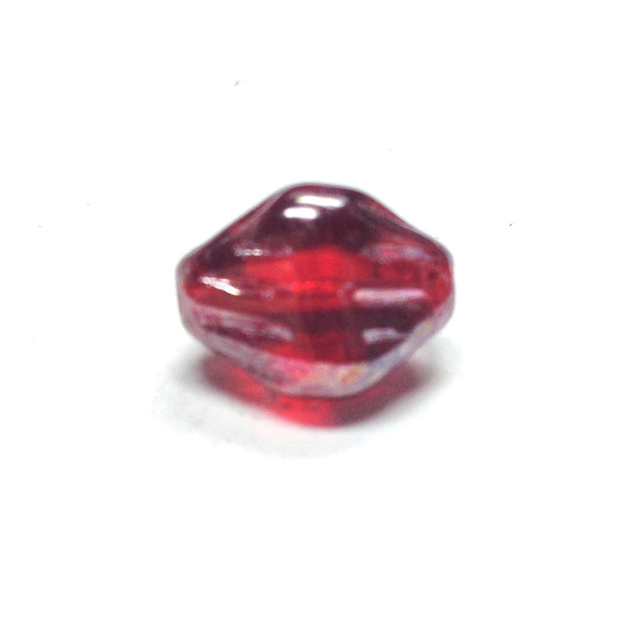 12MM Ruby Red Lustered Glass Nugget Bead (72 pieces)