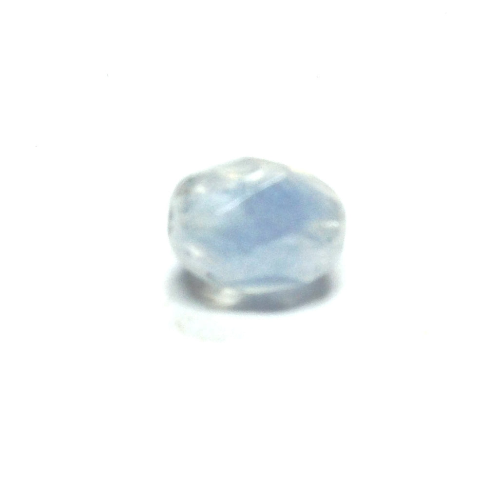 9X7MM Blue Lustered Faceted Bead (100 pieces)