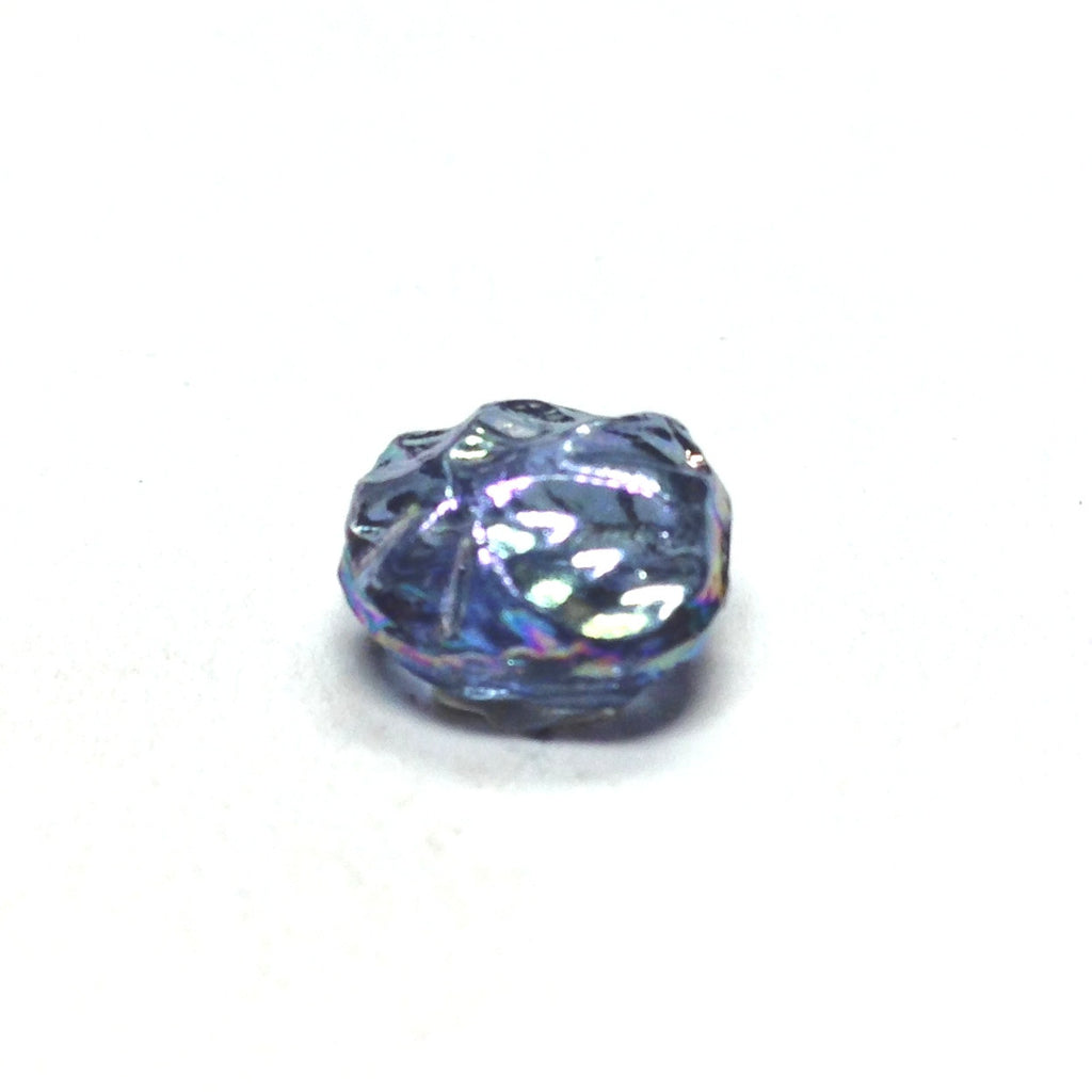 10MM Sapphire Blue Ab Glass Disc Bead (36 pieces)