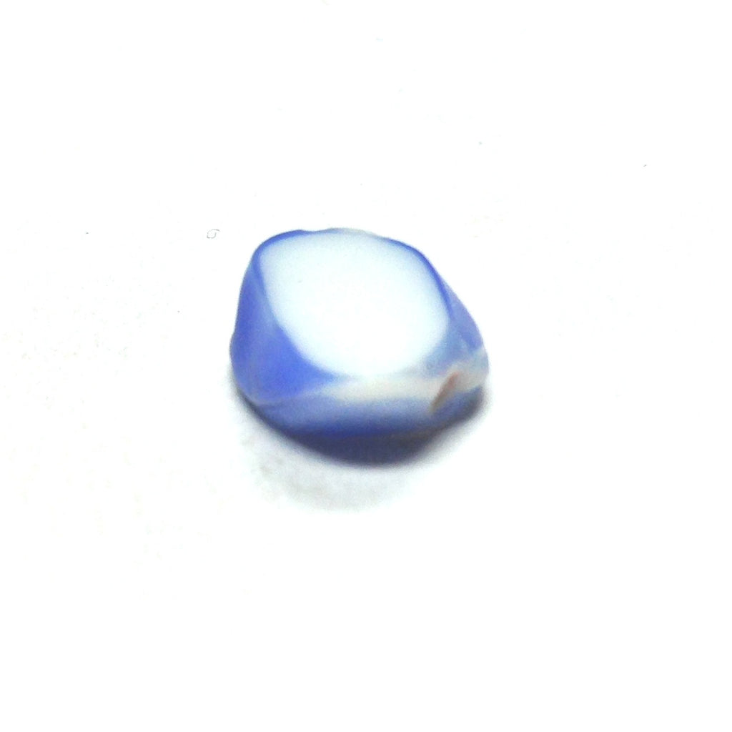10X9MM Blue/White Glass Bead (144 piece)
