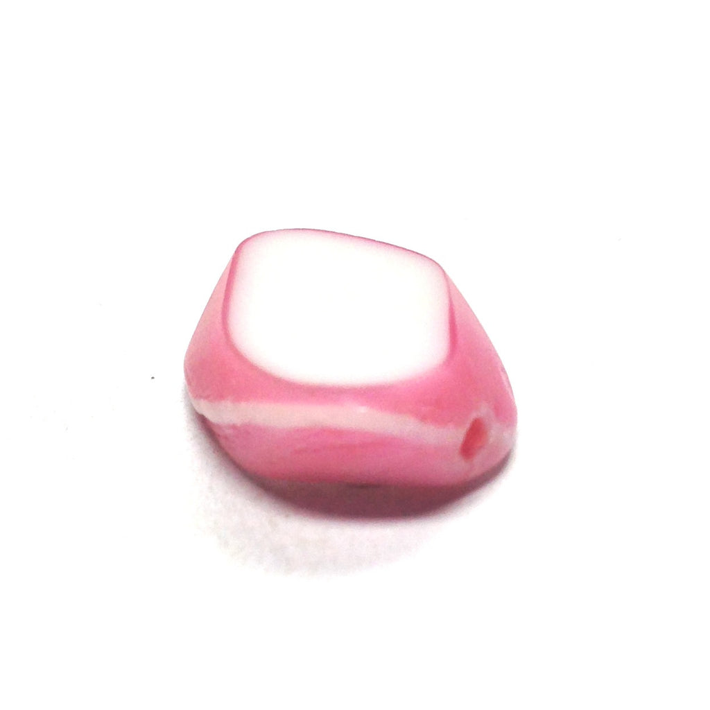 10X9MM Pink/White Glass Bead (144 piece)