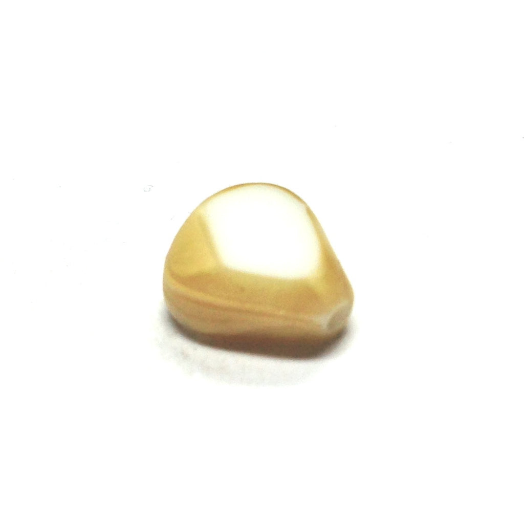 10X9MM Yellow/White Glass Bead (144 piece)