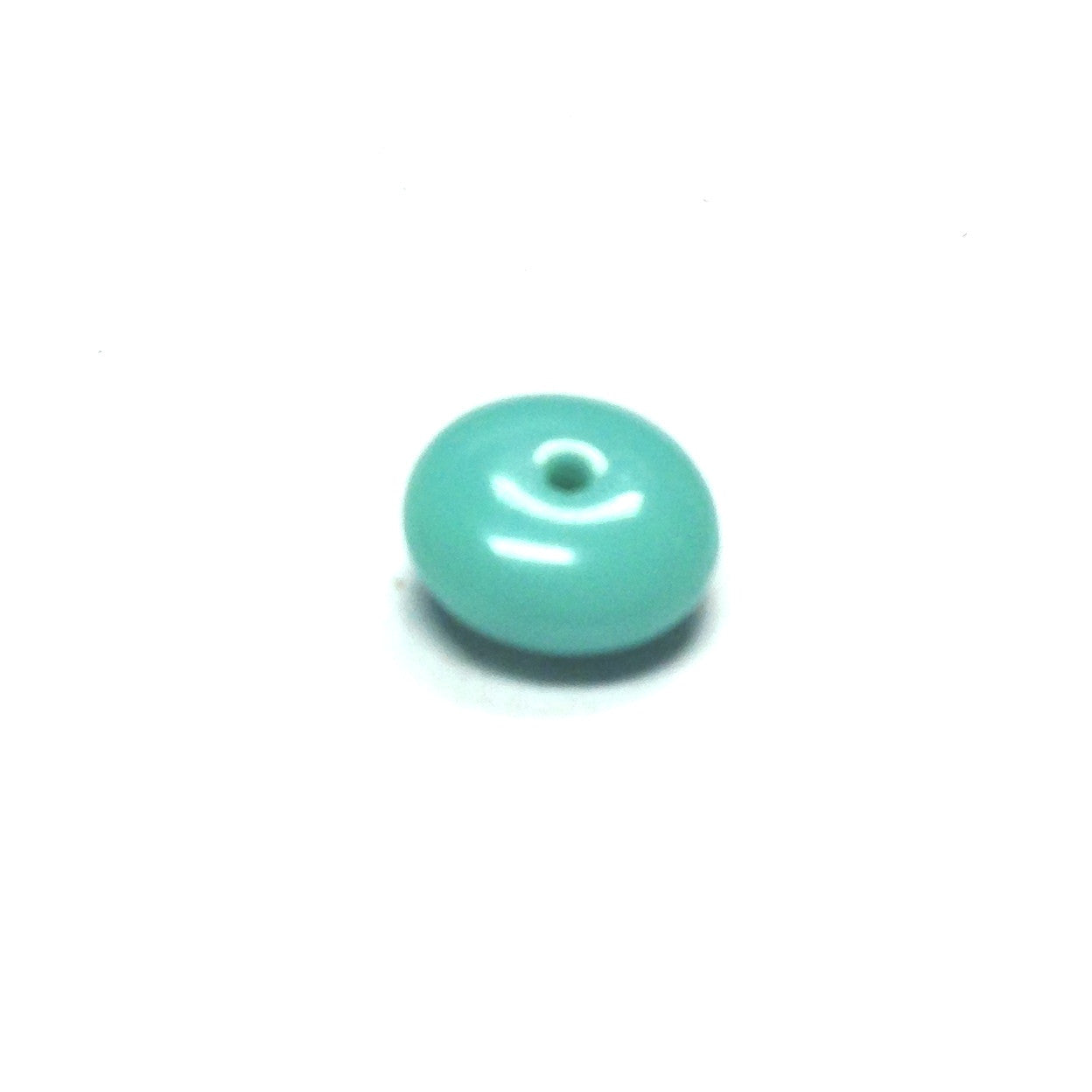 8MM Green Turq Glass Rondel Bead (200 pieces)