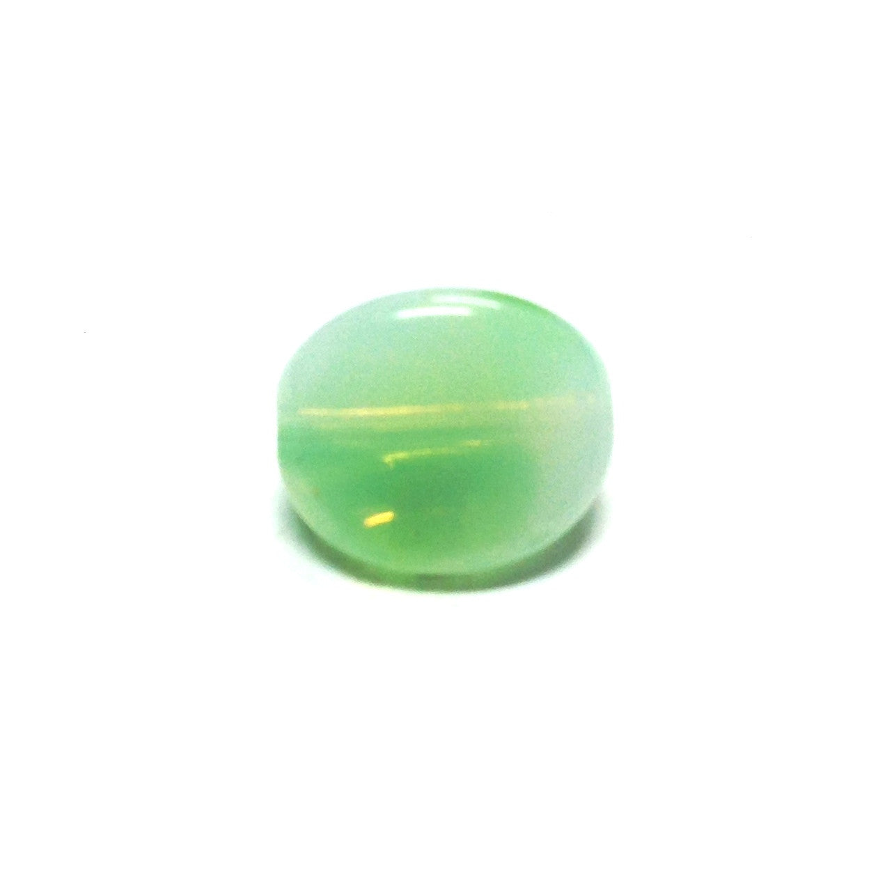 11MM Green 3-Sided Givre Bead (36 pieces)