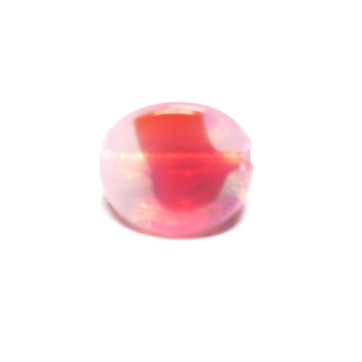 11MM Ruby Red 3-Sided Givre Bead (36 pieces)
