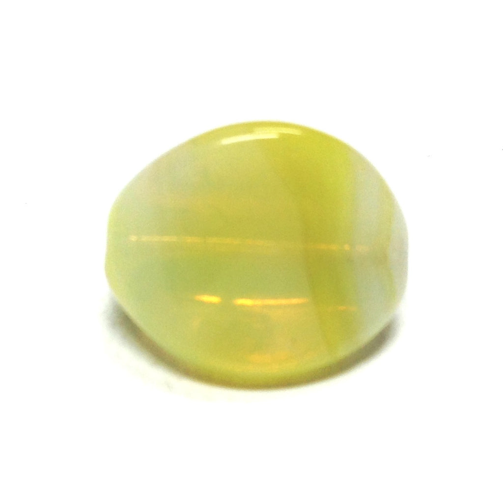 16MM Yellow 3-Sided Givre Bead (36 pieces)