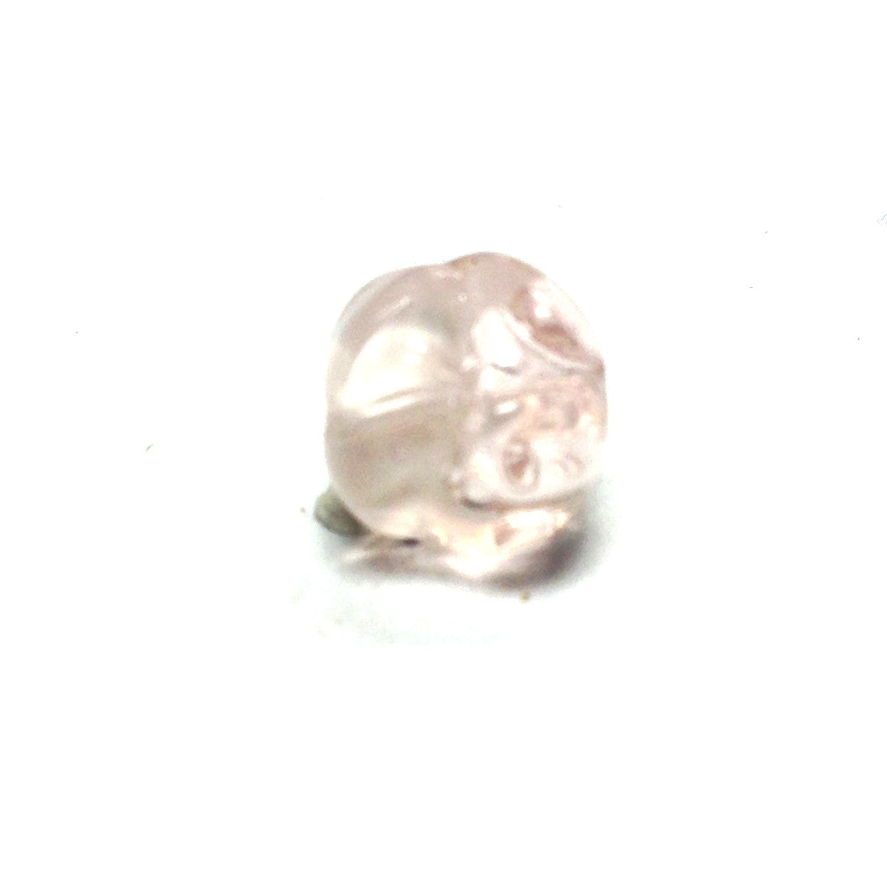 6MM Pink Glass Givre Nugget Bead (144 pieces)