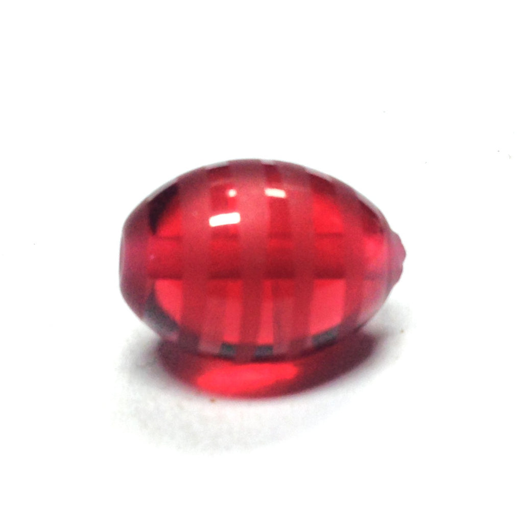15X10MM Ruby Red Glass Bead (12 pieces)