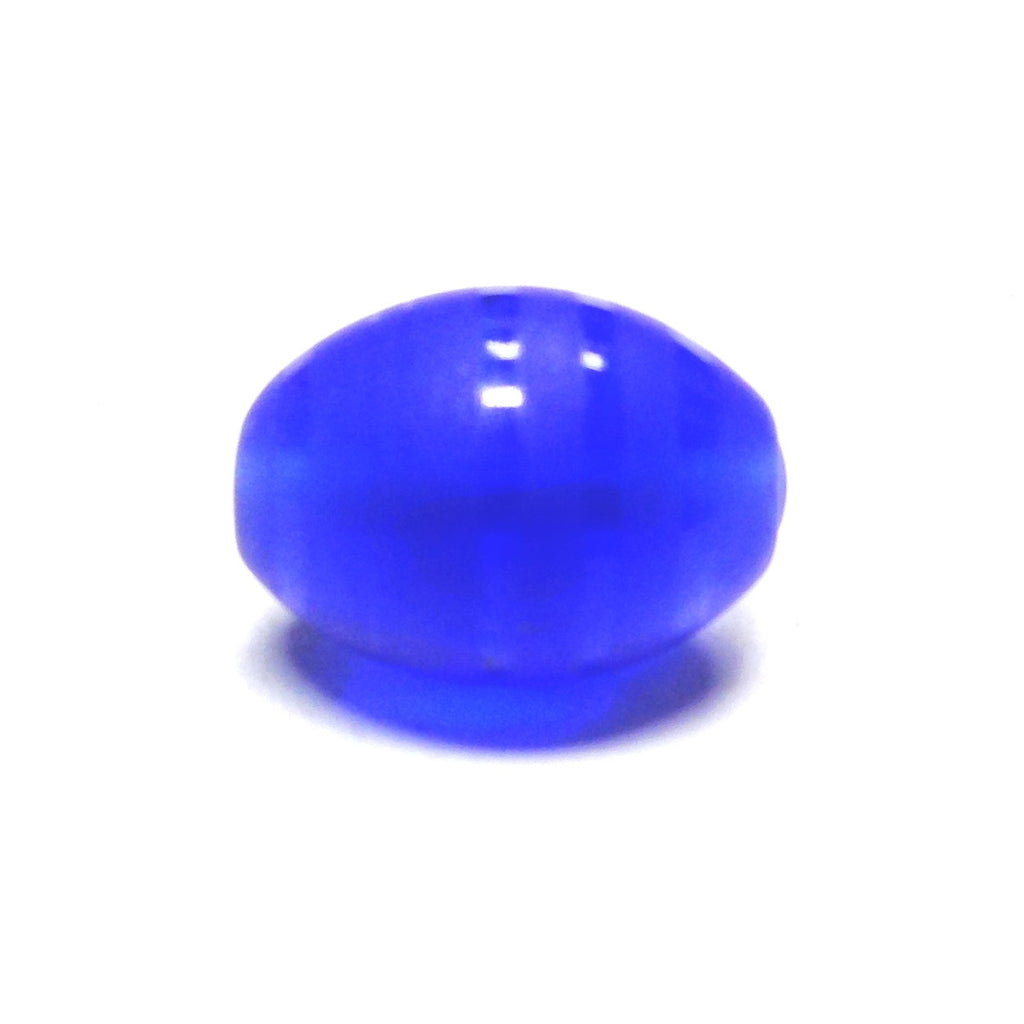 15X10MM Sapphire Blue Glass Bead (12 pieces)