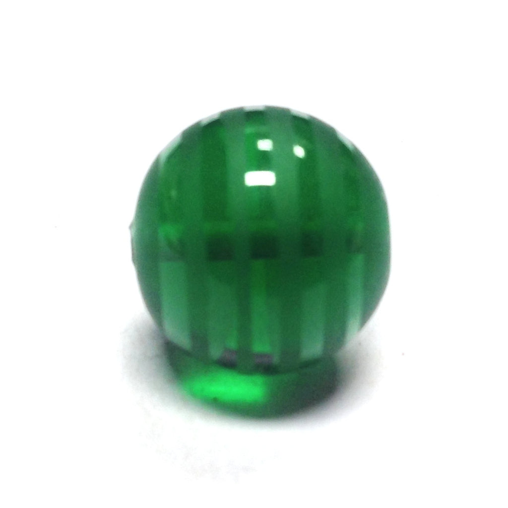 14MM Emerald Green Glass Bead (12 pieces)