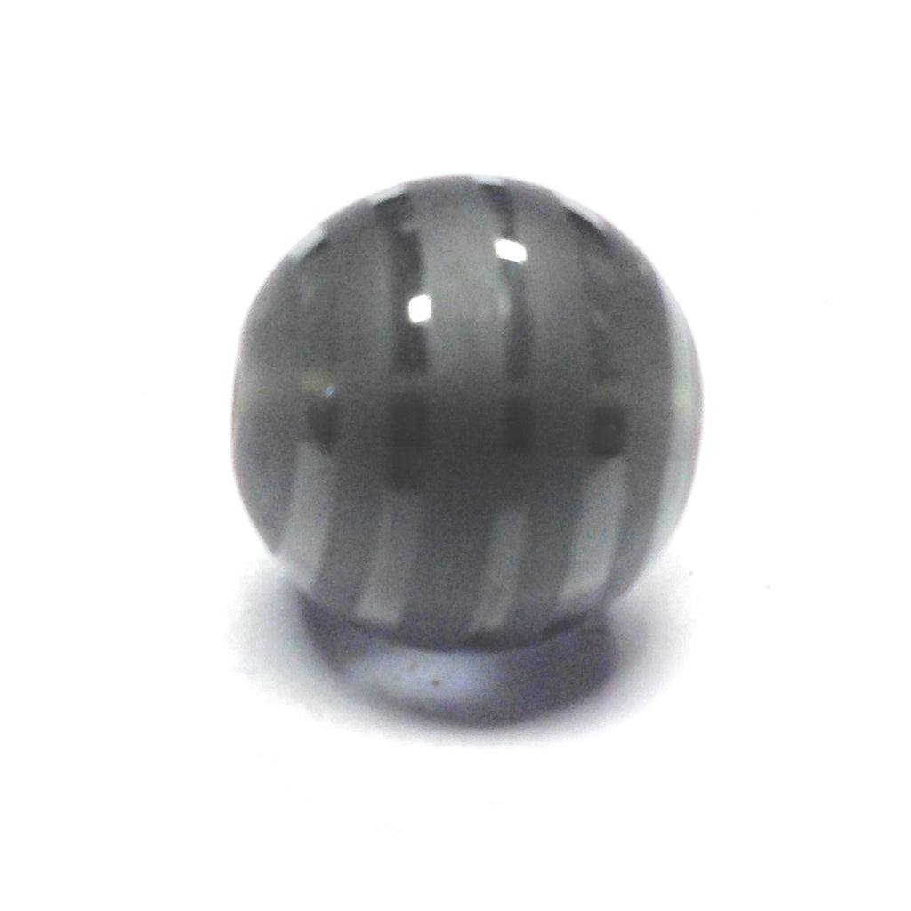14MM Smoke Grey Glass Bead (12 pieces)