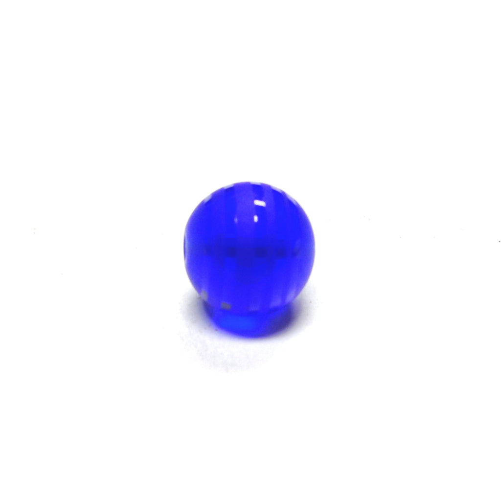 10MM Sapphire Blue Glass Bead (12 pieces)