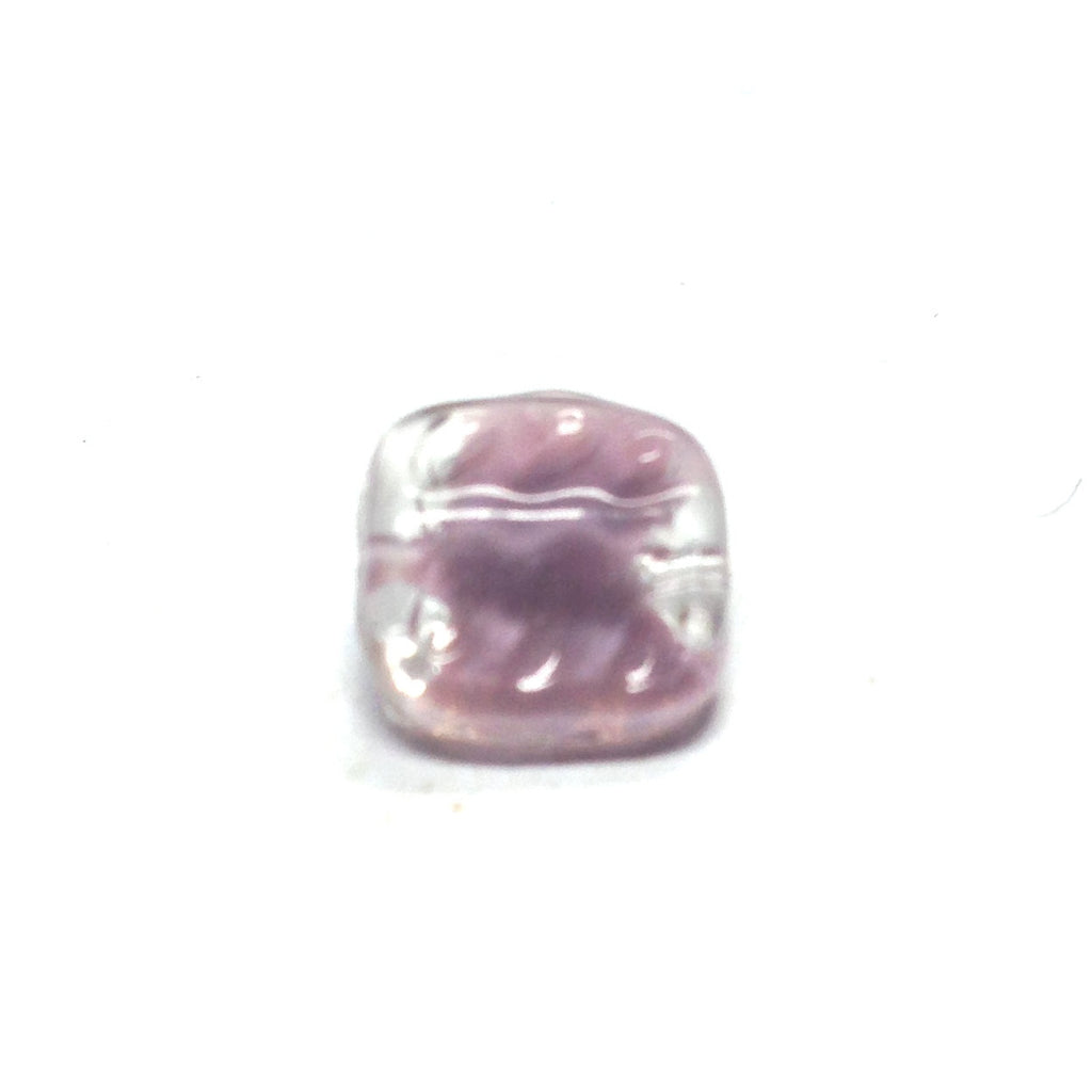 12MM Amethyst Square Glass Bead (72 pieces)